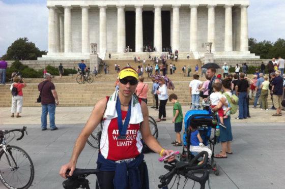 Sean at the Jefferson Memorial