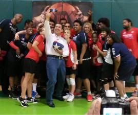 Adrian Garcia with Team