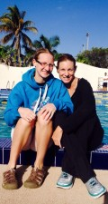 Leslie meets Athletes Without Limits favorite Pro Triathlete, World & Ironman Champion Leanda Cave training in Miami.