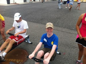 "Justin at his first Athletes Without Limits ""Learn to Row Day"" in 2012."