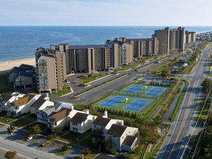 Aerial of Sea Colony Tennis