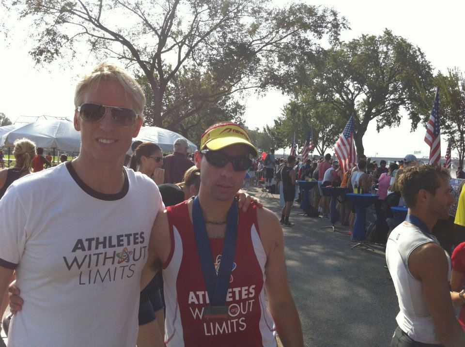 Triathlete Sean O'Rourke with Coach Barry Holman